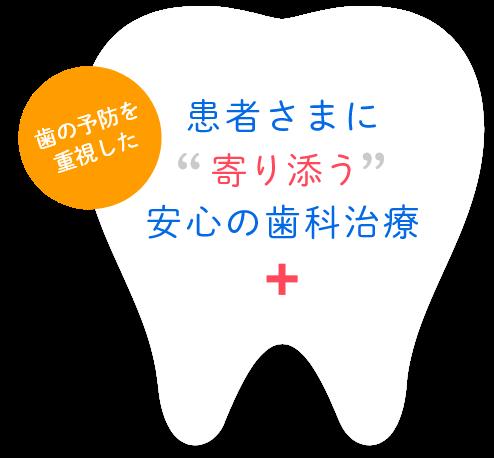 患者さまに寄り添う安心の歯科治療